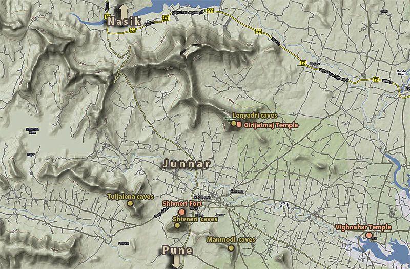 Джуннар и пещеры Леньядри (Junnar and Lenyadri caves)