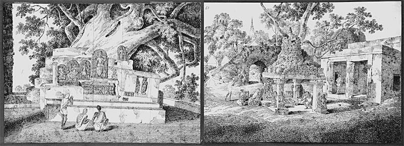 Храм Махабодхи (Buddhapada and Nothern Pipal)