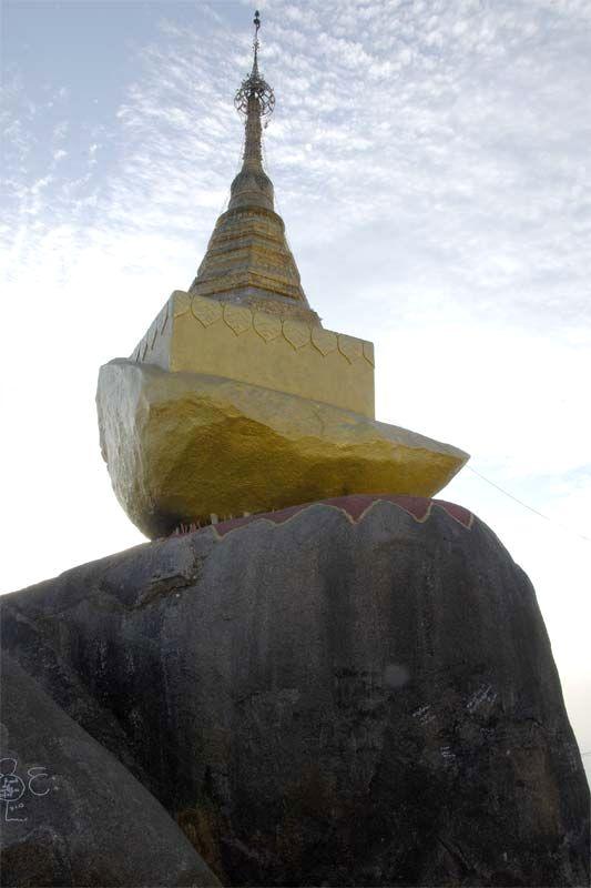 «Золотой камень» Чайтиё пэйя (Kyaikhtiyo Pagoda, Golden Rock)