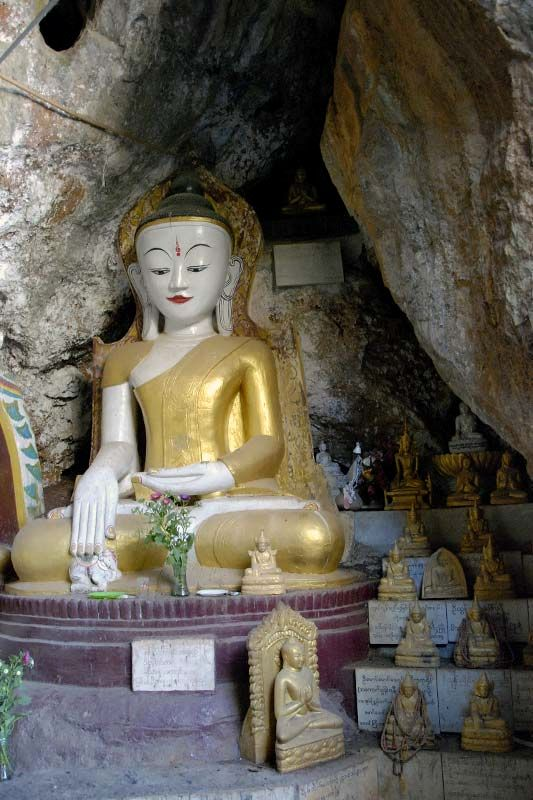 Пещерный буддистский храм Мьин Ма Ти (Myin Ma Hti Cave)