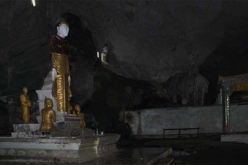 Буддистский храм и пещера Саддан (Saddan cave near Hpa-An)