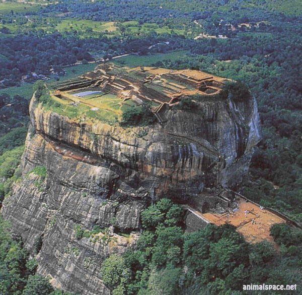 Aerial view sigiriya