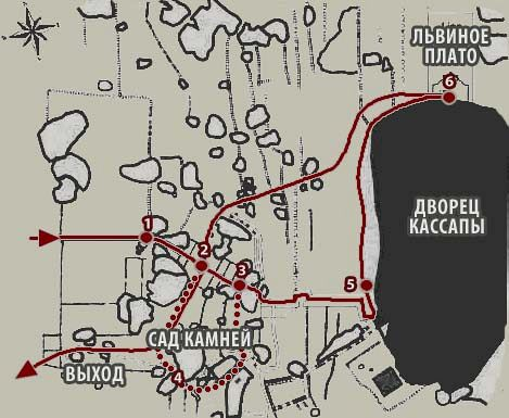 План саршурта Сигирия (Plan route Sigitiya)