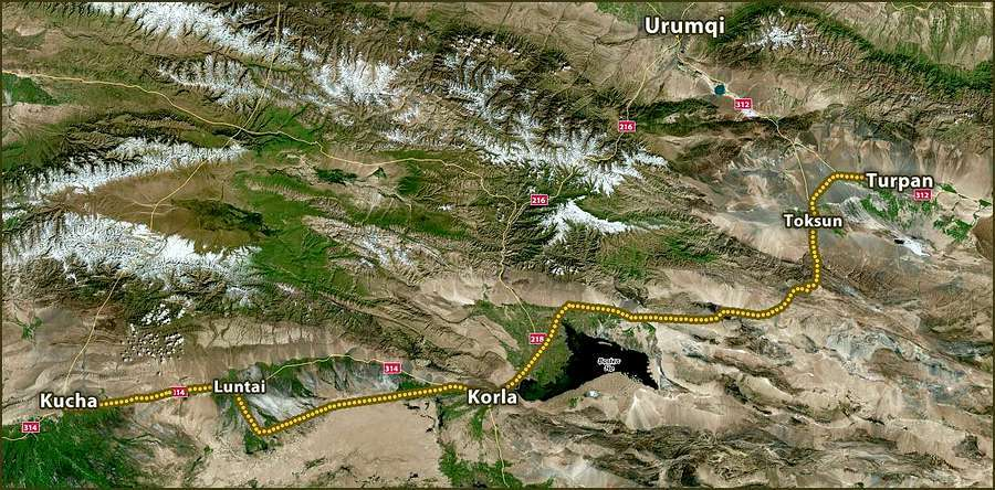 Road Kucha-Korla-Turpan