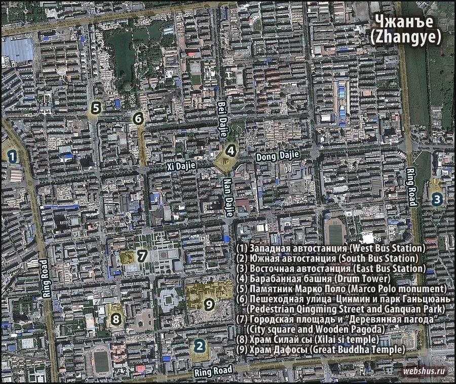 Zhangye city map