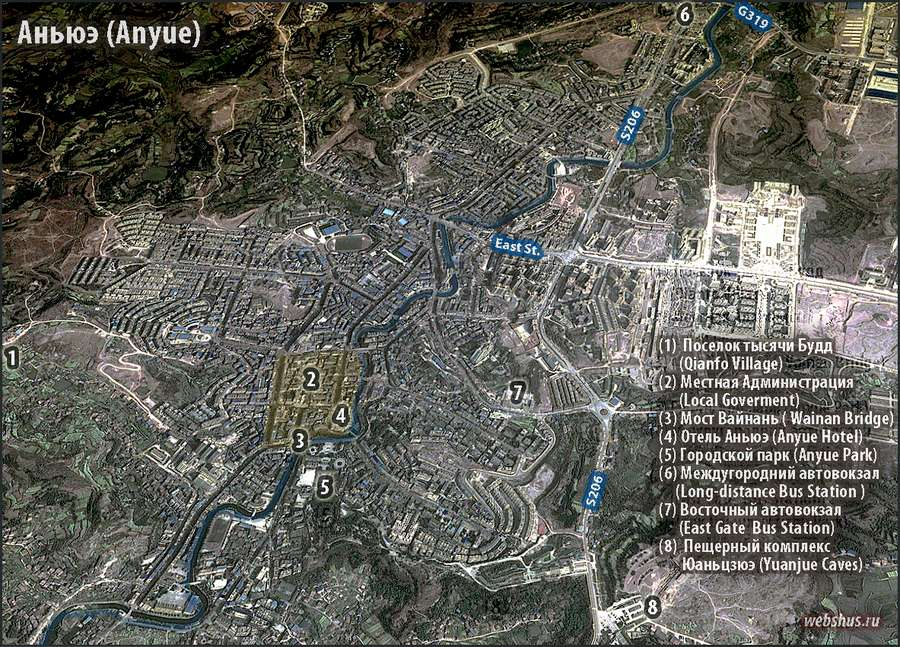 Anyue city map