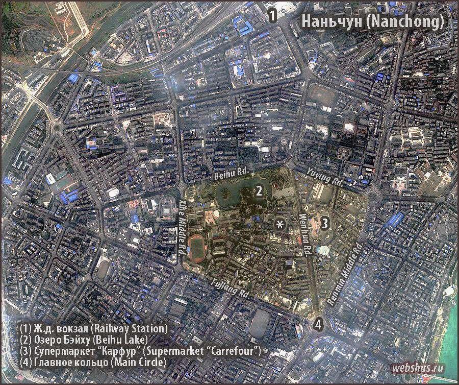 Nanchong сity map