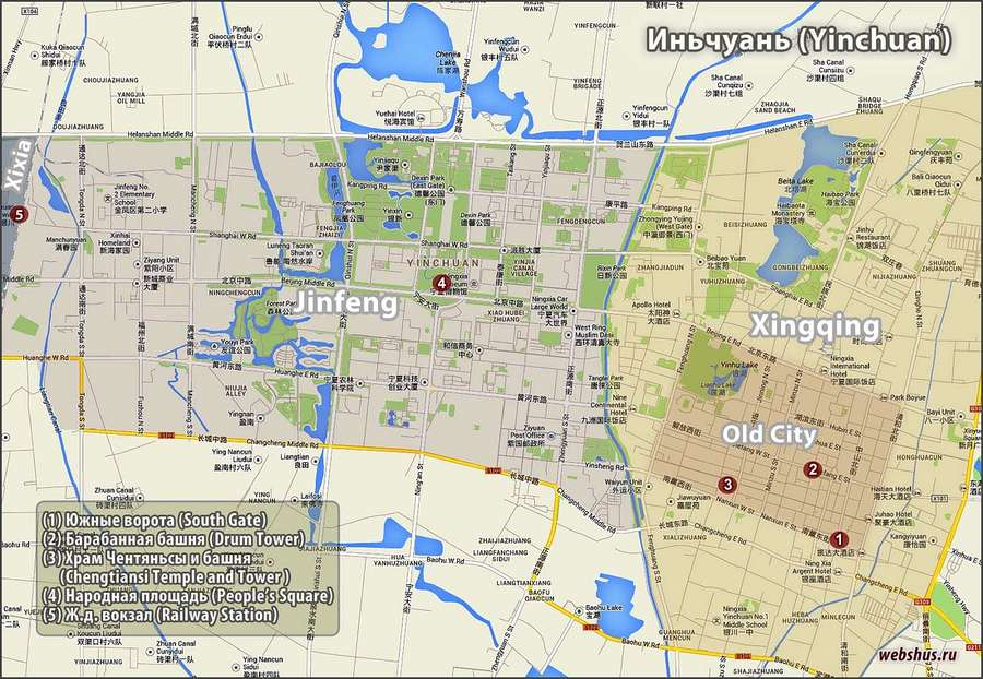 Yinchuan city map